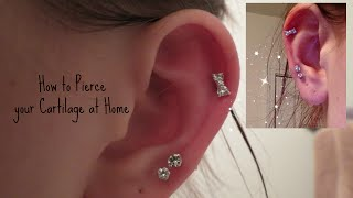 How I Pierced my Cartilage at Home Safely! | Alyssa Nicole