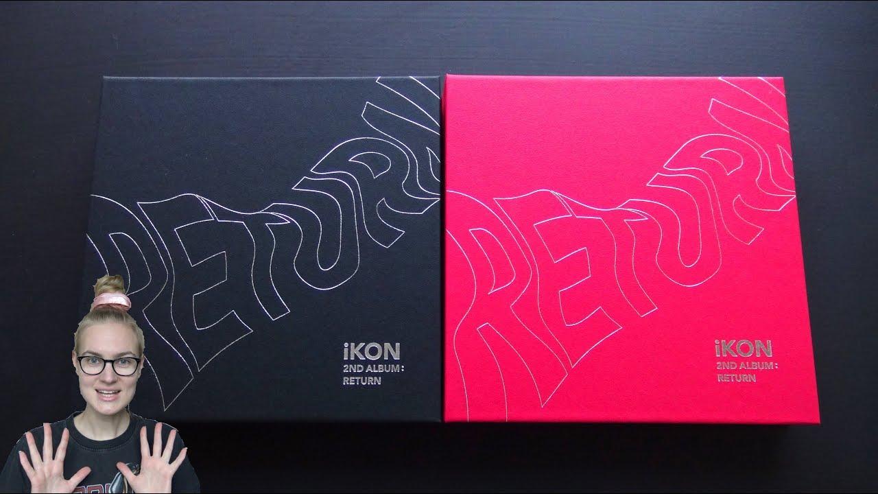 Unboxing iKON 아이콘 2nd Korean Studio Album RETURN [Both Black & Red Edition]