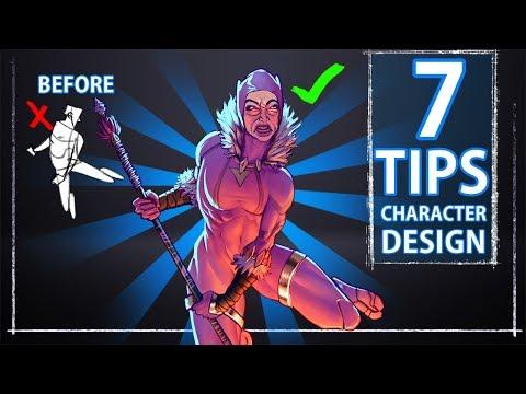 7 Character Design Tips - Concept Art - ft. BLACK PANTHER vs PINK GUY