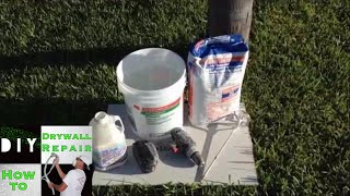 How to mix USG 20 minute quick setting type joint compound- Hot Mud