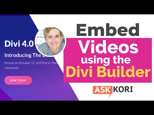 Embedding Video in the Divi WordPress Theme