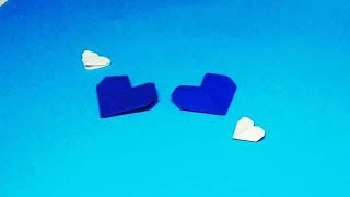 Оригами сердечко из бумаги. Видео-урок как сделать из бумаги сердце в стиле оригами.