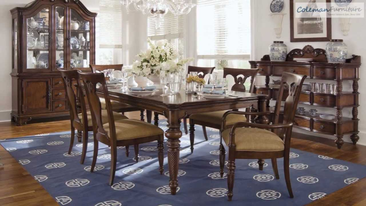 British heritage rectangular dining room collection from for Dining room tables you tube