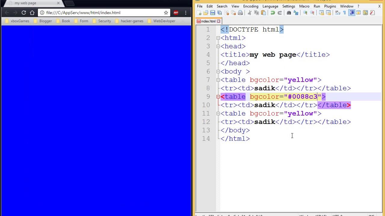 الدرس الثاني عشر الخلفيات (html)