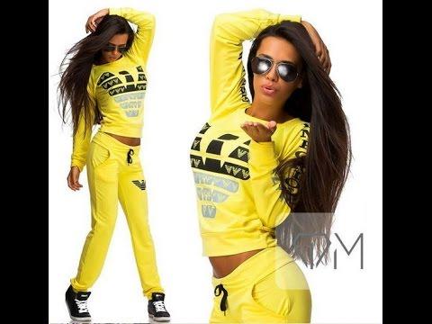 Новый стильный женский спортивный костюм из хлопка