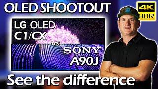 LG C1 vs LG CX vs Sony A90J - OLED Showdown