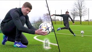 STEVEN GERRARD & F2 AMAZING SHOOTING SESSION! *WATER-BOTTLE EDITION* | F2 FREESTYLERS