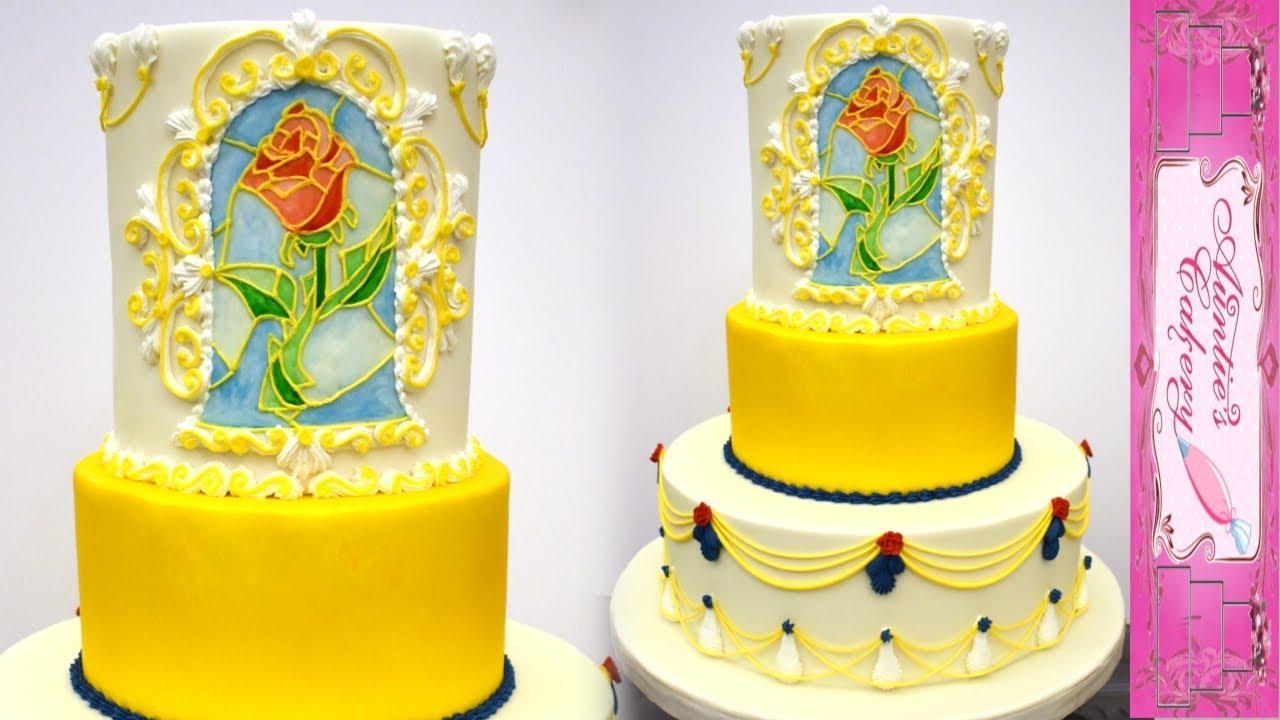 Beauty And The Beast Wedding Cake.Beauty And The Beast Wedding Cake Full Video