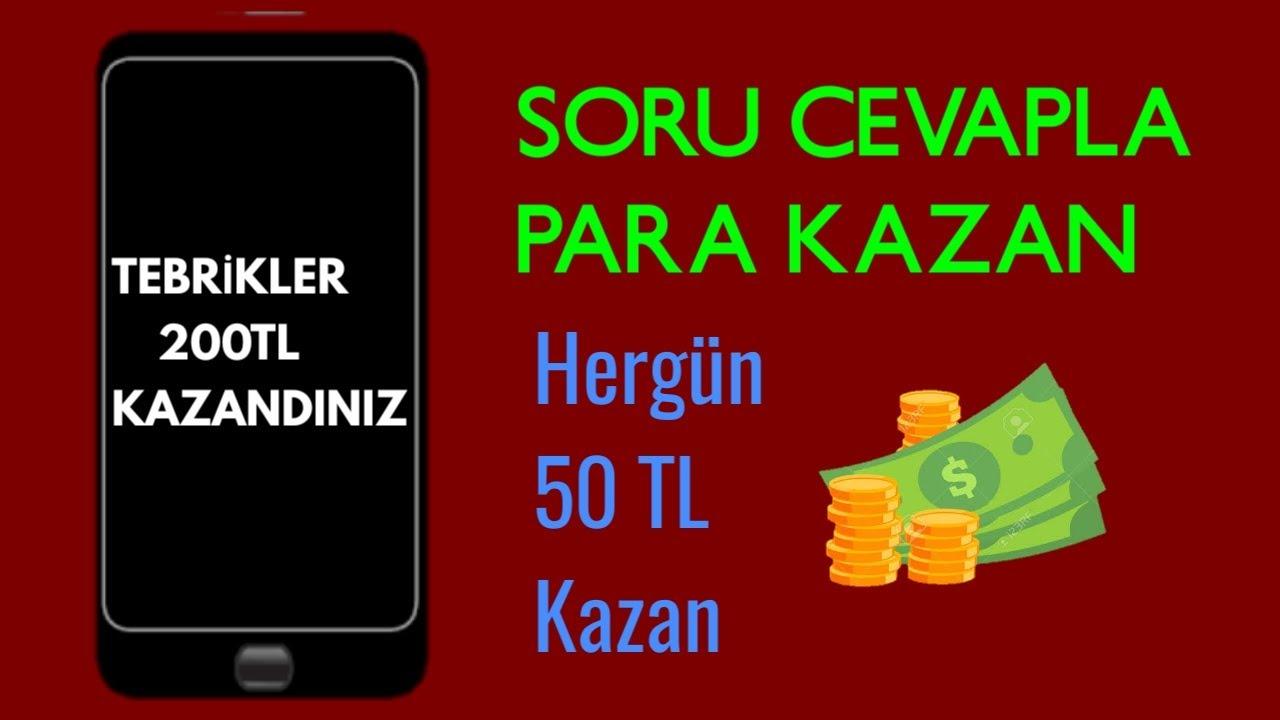 Günde 50 TL Kazan // Soru Cevapla Para Kazan Çok Kolay!!!