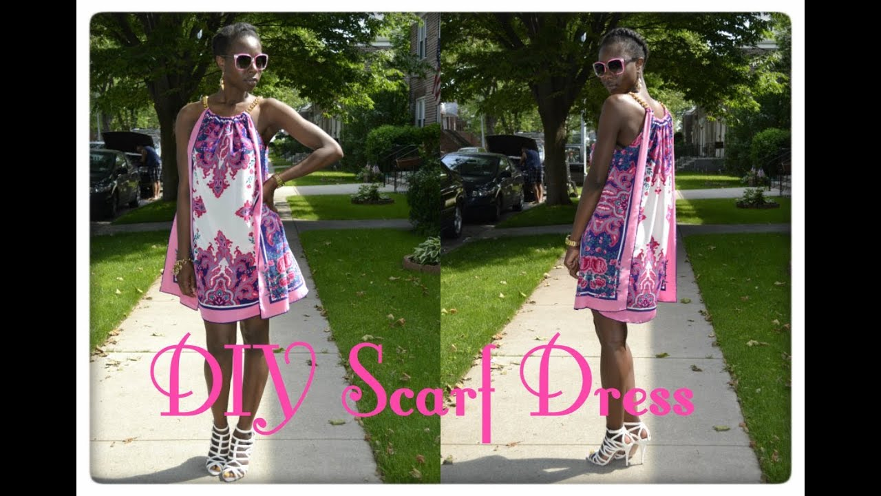 Diy Summer Scarf Dress Youtube