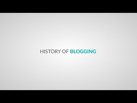 History Of Blogging Since 1994