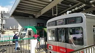 蒲田駅に乗り入れる東急多摩川線と池上線!7700系も姿表す!