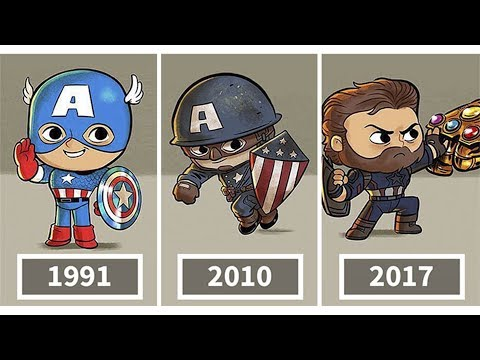 Artist Illustrates The Evolution Of Pop Culture Icons And The Result Is Too Cute