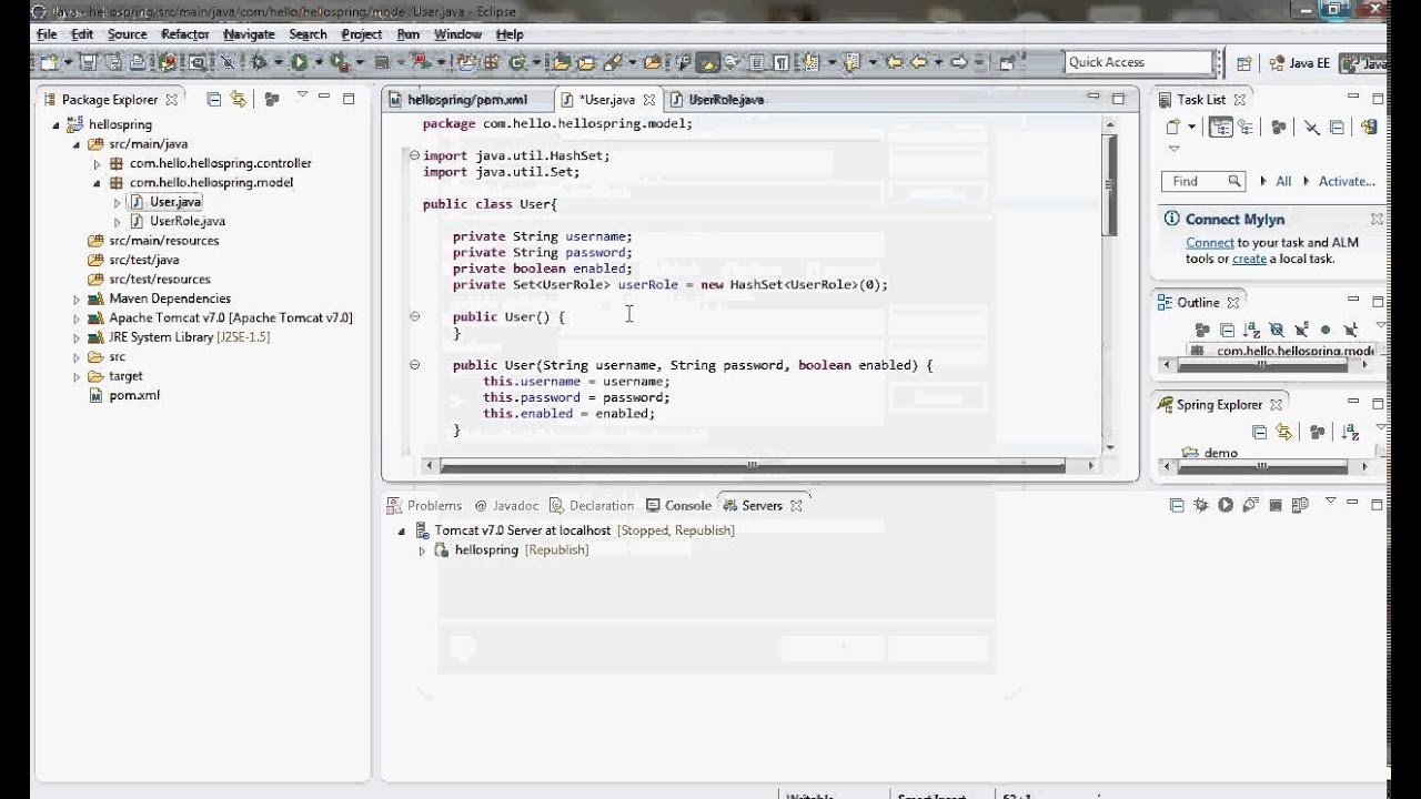 Spring security with hibernate hello world tutorial youtube spring security with hibernate hello world tutorial baditri Images