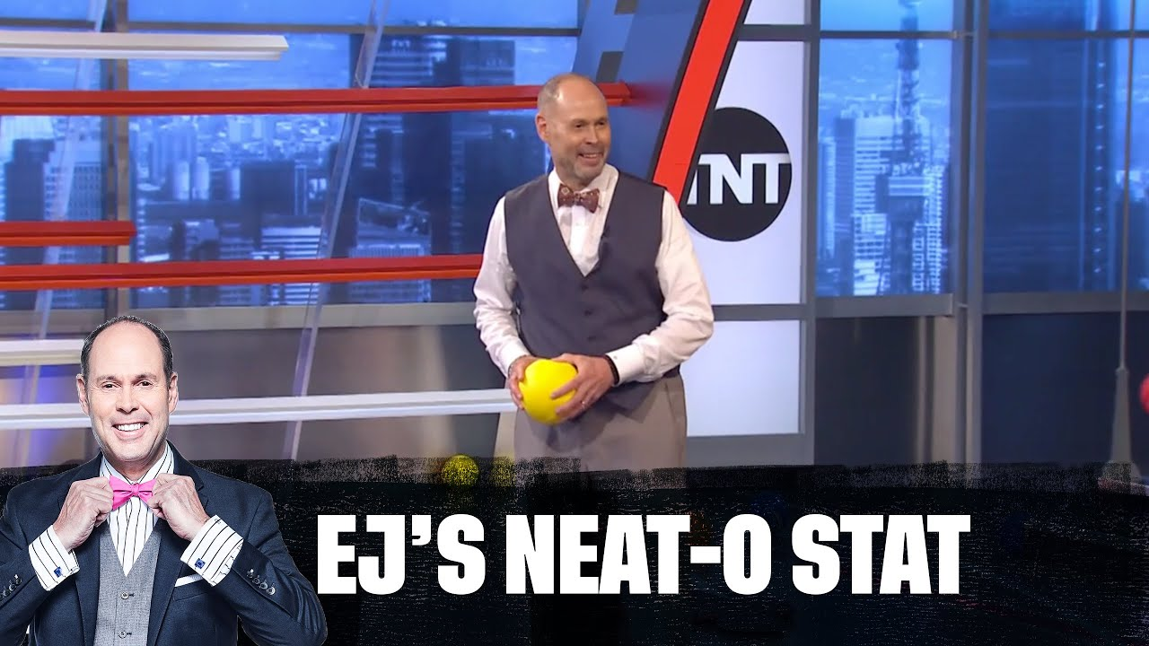 Shaq, Kenny, Chuck and Ernie Hold a Dodgeball Game in Studio J | EJ's Neato Stat
