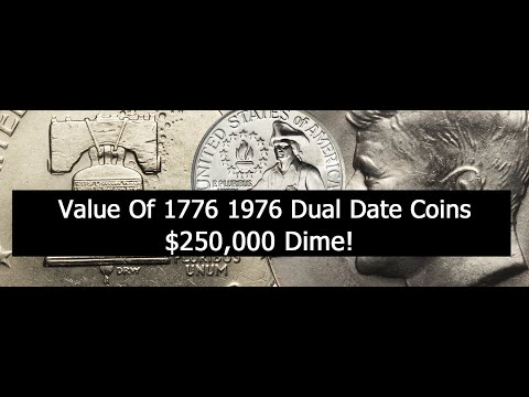 Are 1776 1976 Dual Date Coins Valuable? Rare 1975 Dime In 1976 Proof Set!