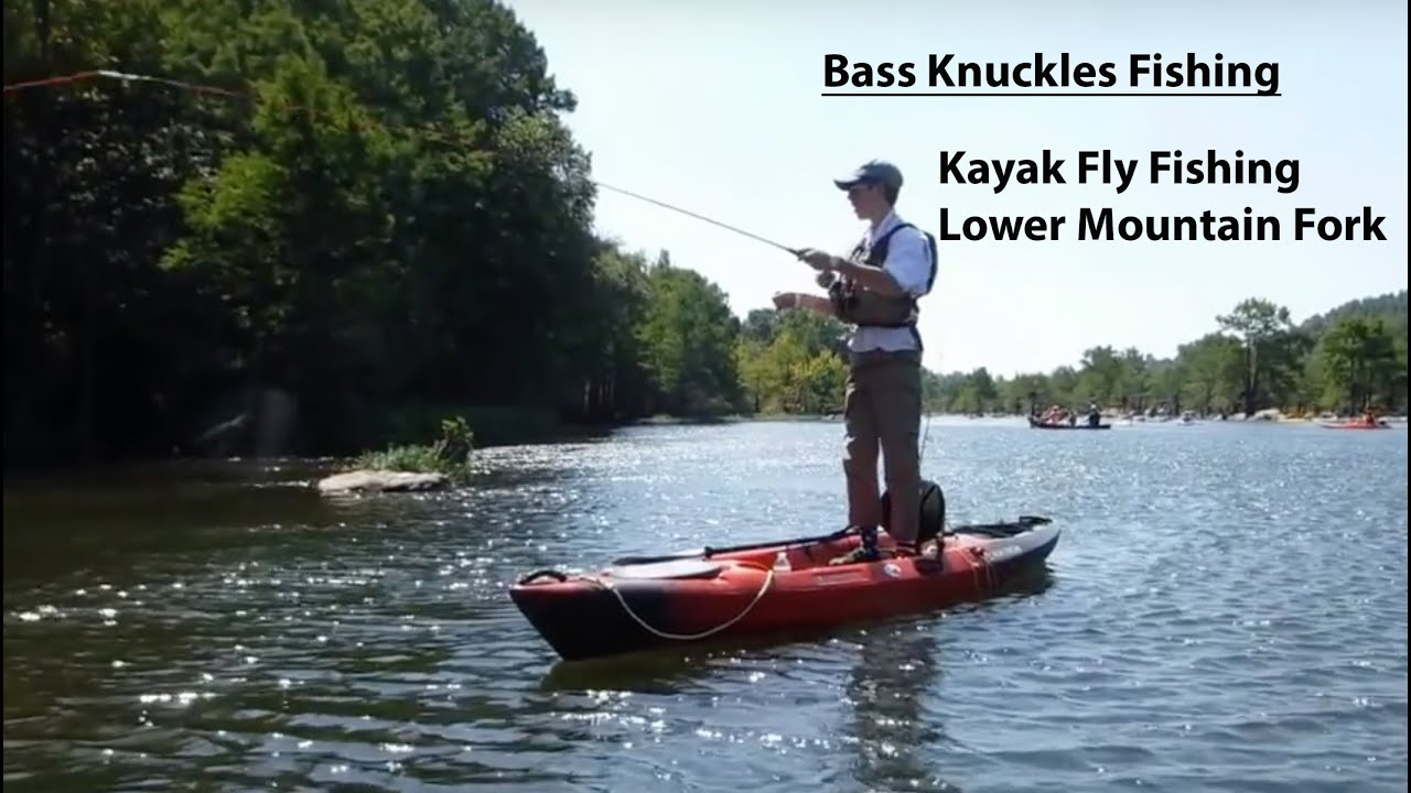 Kayak fly fishing on the lower mountain fork river for Fly fishing kayak