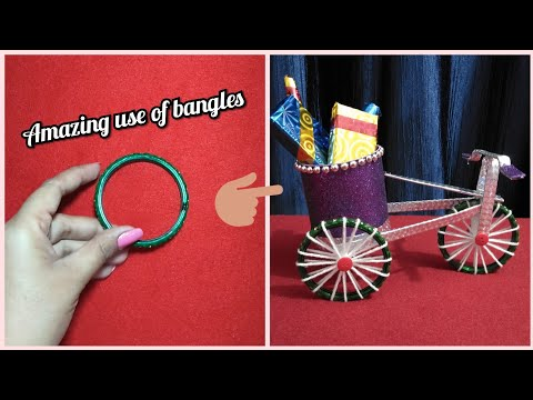 Bangles craft/ DIY Cycle from bangles/ Best out of waste craft idea