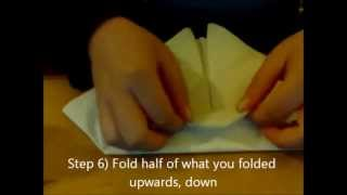How to fold a paper napkin in a fancy way