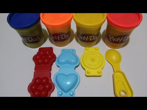 Learn 3 Color Play Doh Make Donat and Open Surprise Toys