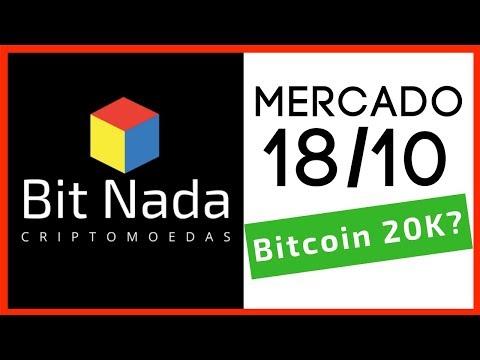 Mercado de Cripto! 18/10 Bitcoin 20mil Dólares? Agora Vai? / Bye Bye Bancos!