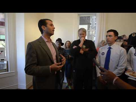 Donald Trump Jr Speaks During His Appearance in Boulder Colorado