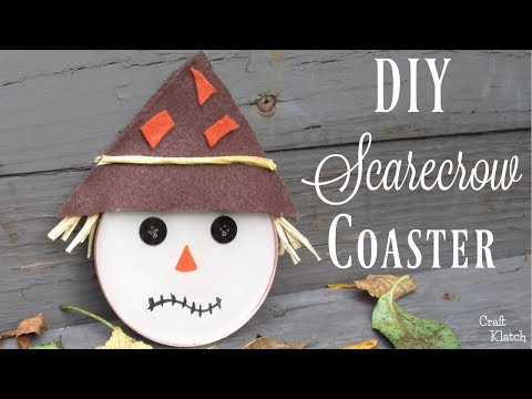 DIY Scarecrow Resin Coasters ~ Another Coaster Friday ~ Craft Klatch