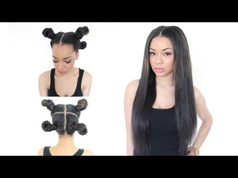 The Vixen Sew In With Various Hair Styles Youtube