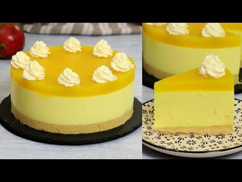 ЧИЗКЕЙК БЕЗ ВЫПЕЧКИ С МАНГО (ВКУСНЕЕ НЕ БЫВАЕТ!) ☆ No-Bake Mango Cheesecake Recipe ☆ Марьяна