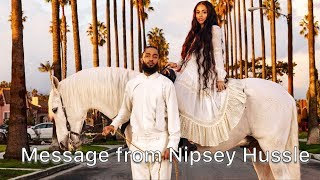 Message from the spirit of Nipsey Hussle