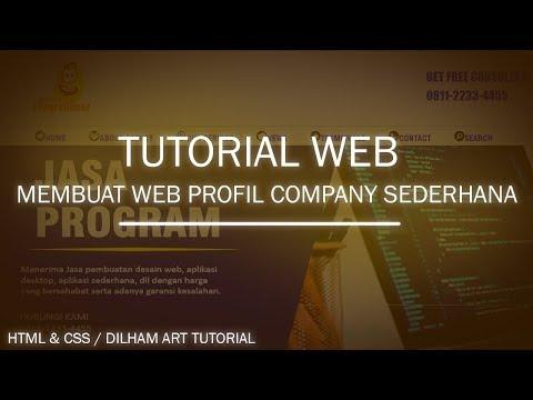 Tutorial HTML Dan CSS Lengkap Web Profil Company