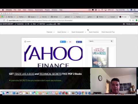 Tutorial on fix to download Yahoo Finance historical data in Python