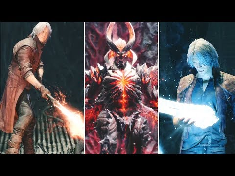 Dante Reactions to New Weapons 2001-2019  DMC1-DMC5 | Devil May Cry 5 thumbnail