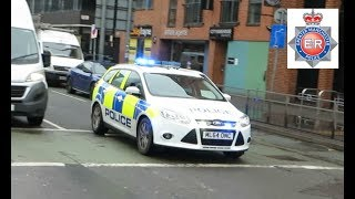 *please subscribe for emergency vehicle responding videos + compilations every other day!* gmp ford focus dog unit in manchester city centre, blue...