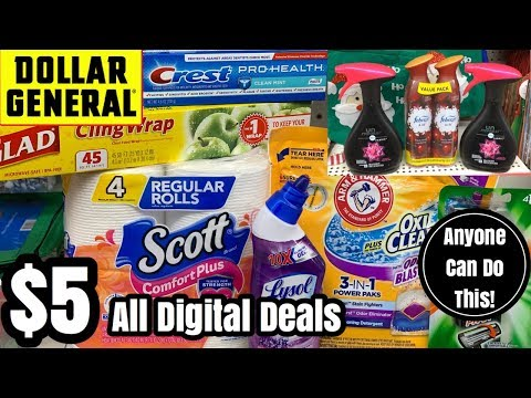 Dollar General   $5 Challenge!   2 ALL DIGITAL NEWBIE FRIENDLY Couponing Deals You Can Do Now