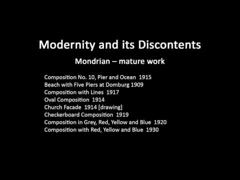 A history of modern art in 73 lectures: lecture 35 (Mondrian)
