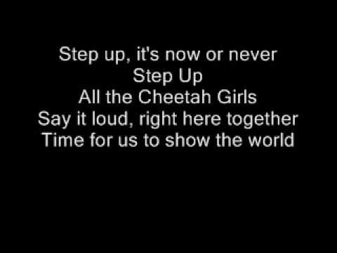 Cheetah Girls- Step Up Official Karaoke (w/onscreen lyrics)