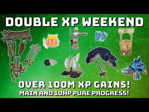 Double Xp Weekend 100m+ Xp Gainz [Runescape 3] Main & 10hp Pure!