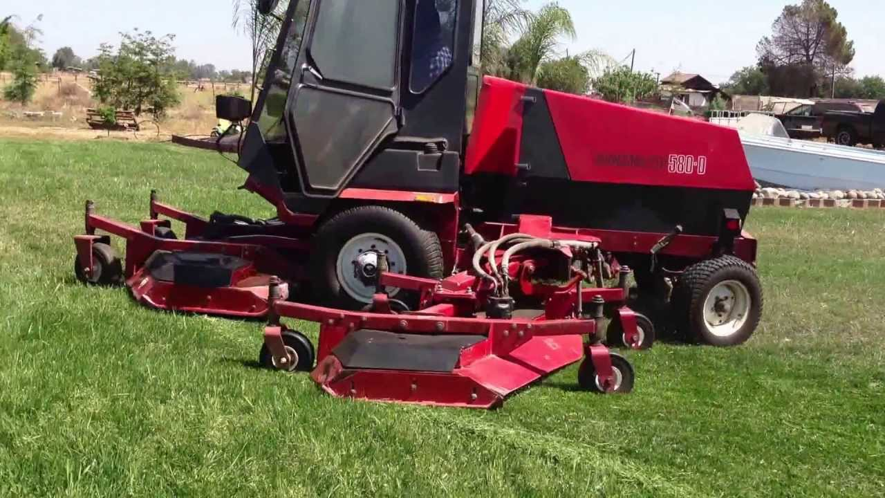 Sold Toro 580d Wam Rotary Mower Diesel Turf Amp Field Wide