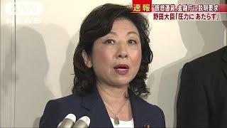 「圧力にあたらず」野田聖子大臣 金融庁に説明要求(18/07/19)