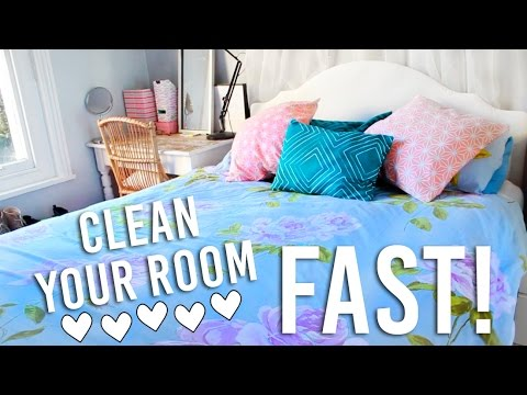 How to clean your room fast in 30 minutes cleaning hacks youtube How do you clean your bedroom