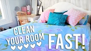 How To Clean Your Room FAST! In 30 minutes | Cleaning Hacks