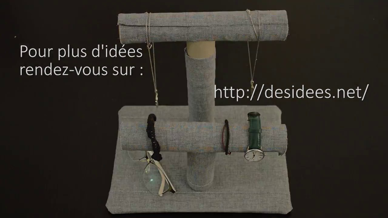 diy fabriquez un porte bijoux original avec des rouleaux. Black Bedroom Furniture Sets. Home Design Ideas