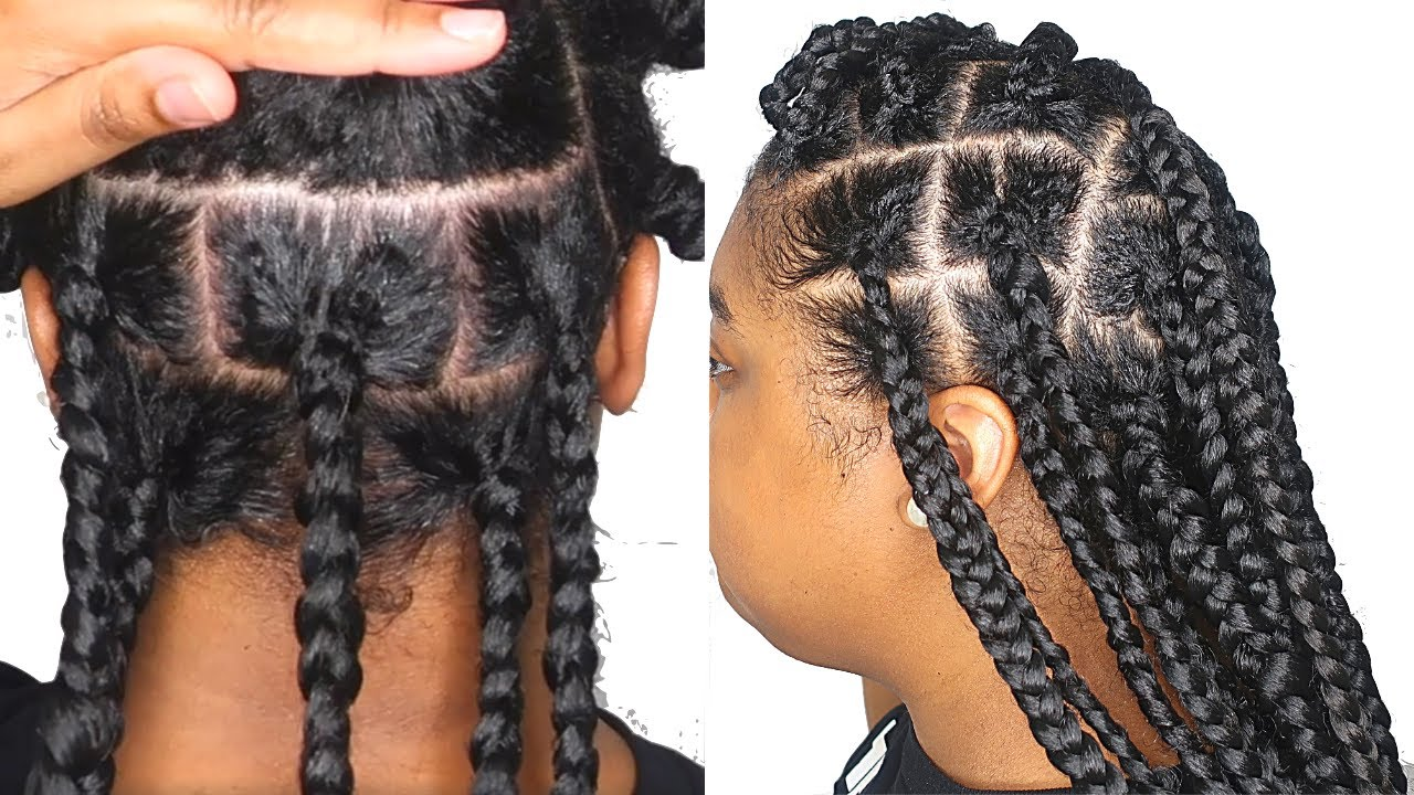 Detailed Parting Tutorial For Jumbo Knotless Box Braids Long Pre Stretched Braiding Hair Youtube Check out also our favorite knotless box braids styles for inspiration. detailed parting tutorial for jumbo knotless box braids long pre stretched braiding hair