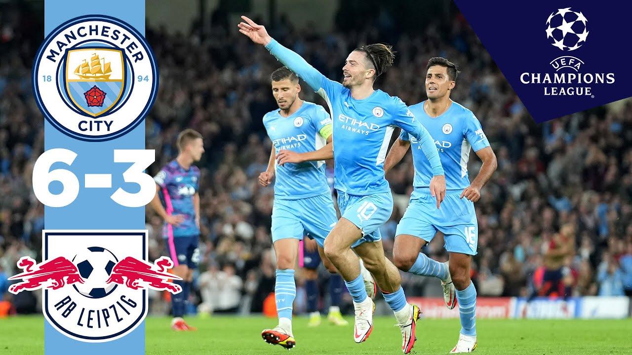 Download Man City Highlights!   Man City 6-3 RB Leipzig   Ake, Mahrez, Grealish, Cancelo, Jesus Goals!