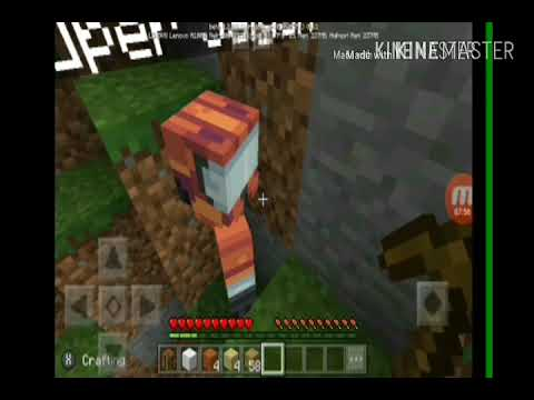 Minecraft PE gameplay 1 surviving