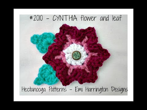 Free Crochet Pattern Pink Cynthia Flower And Leaf Pattern 2010