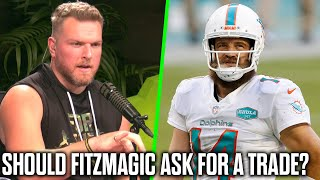 Pat McAfee Talks If Ryan Fitzpatrick Should Ask For A Trade