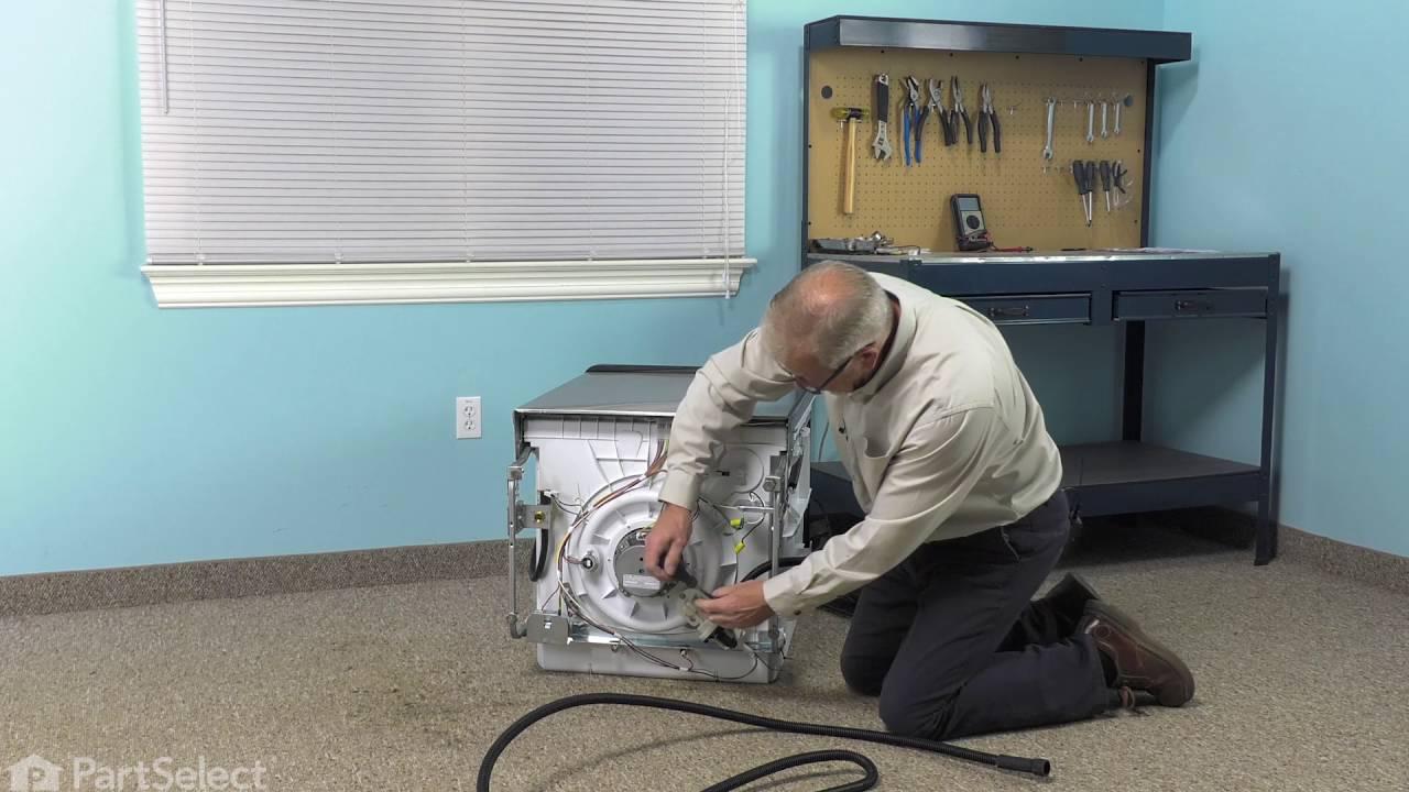 Dishwasher Repair Replacing The Drain Hose Whirlpool