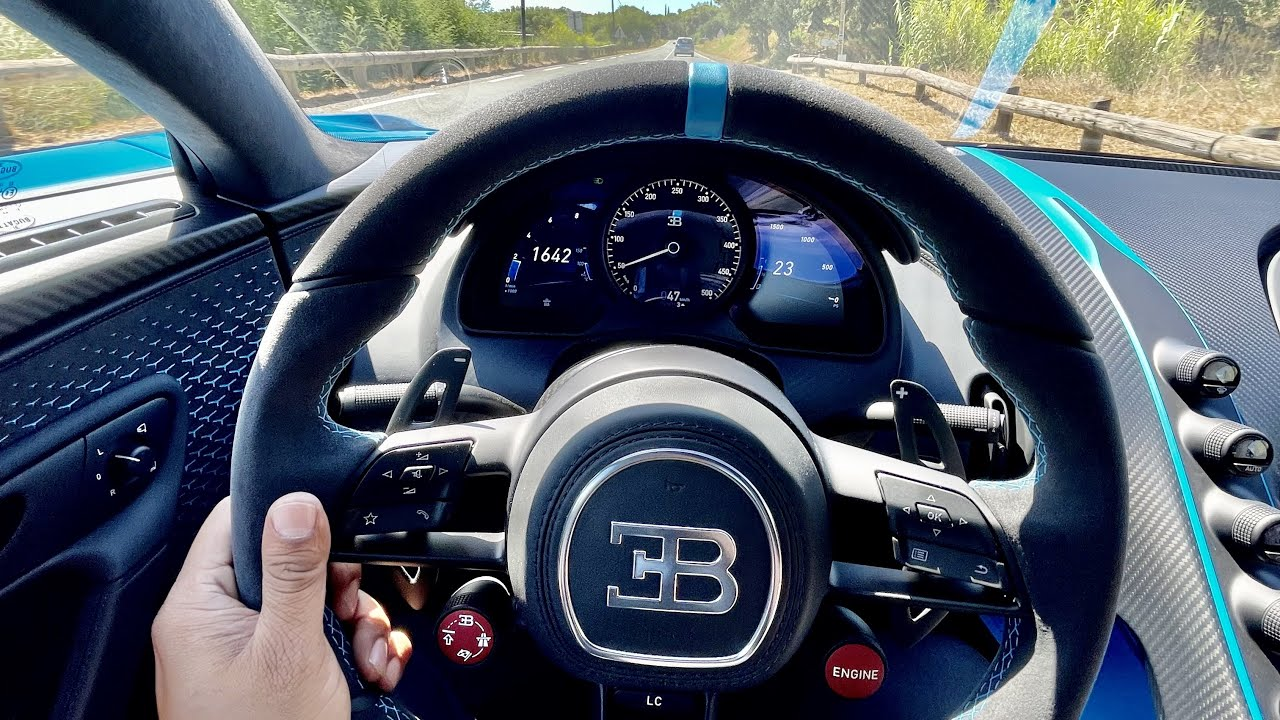 Bugatti Chiron Pur Sport 2021 Sound, Start up, Revs and Acceleration - My first drive in St Tropez